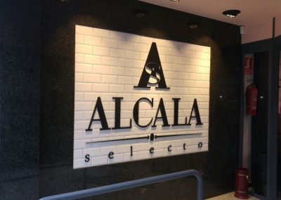 Decoración Recepción Alcalá Selecto con letras pvc 19 mm lacadas