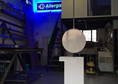 Letra  aluminio lacado  frontales de metacrilato, a doble cara e iluminación led