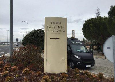 TOTEM LA QUINTA DEL JARAMA ANTES