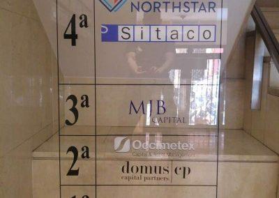 DIRECTORIO METACRILATO SUSPENDIDO Directorios para empresas, oficinas y comunidades