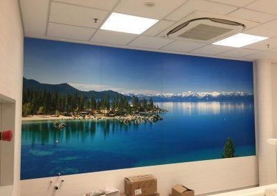 Foto-mural en vinilo impreso especial pared y laminado polimerico