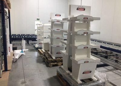 Rotulación en vinilo impreso muebles expositores Delaviuda