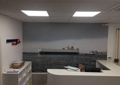 Foto-mural decorativo impreso en vinilo polimerico con ultratack
