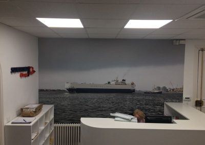 Foto mural decorativo impreso en vinilo polimerico con ultratack Foto murales