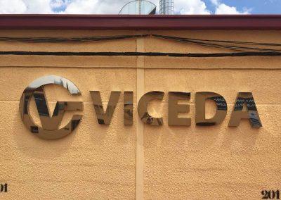 Letras acero pulido espejo ciegas con trasera de pvc VICEDA (1)