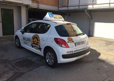 Rotulacion vehiculo en vinilo impreso y de corte Bulldog Rotulación de Vehículos
